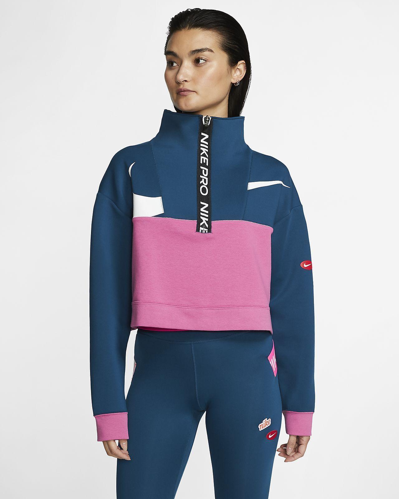 Nike Pro Get Fit Icon Clash Women's Fleece 1/2Zip Jacket