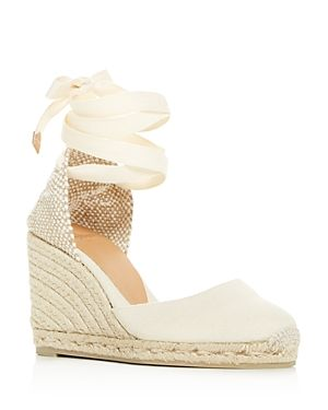 fe8eeafe67b CASTAÑER WOMEN S CARINA ANKLE-TIE WEDGE ESPADRILLE SANDALS.  castañer  shoes