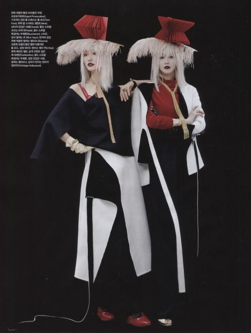 Lee Hyejung and Sera Park by Lee Gunho for Vogue Korea Dec 2014