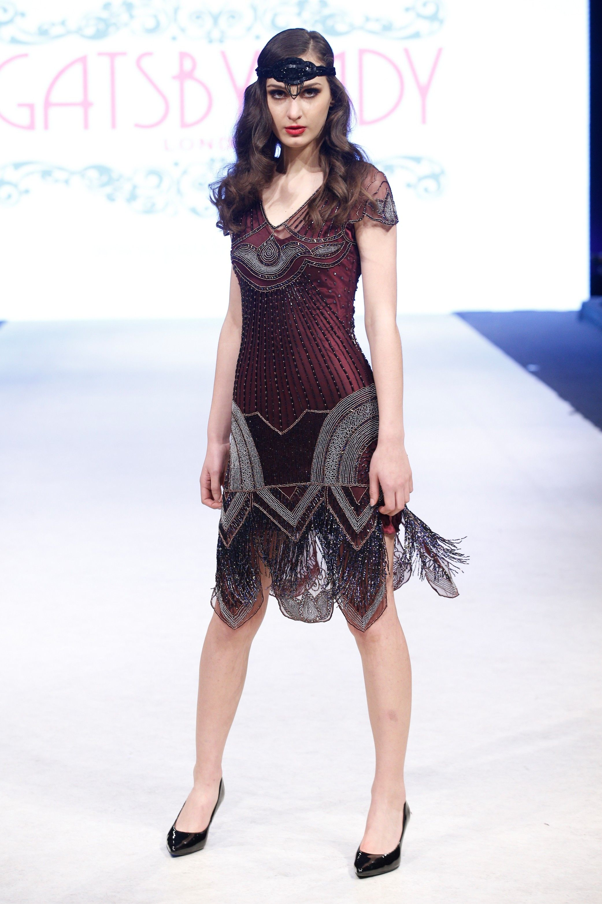 Gatsbylady beatrice us vintage inspired fringe flapper dress in