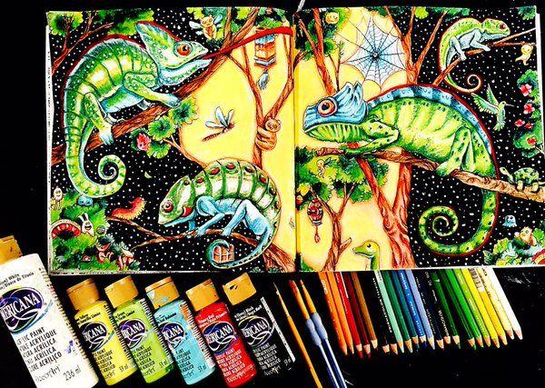 Dede Willingham On Twitter Animorphia Coloring Book Coloring Book Art Animorphia Coloring