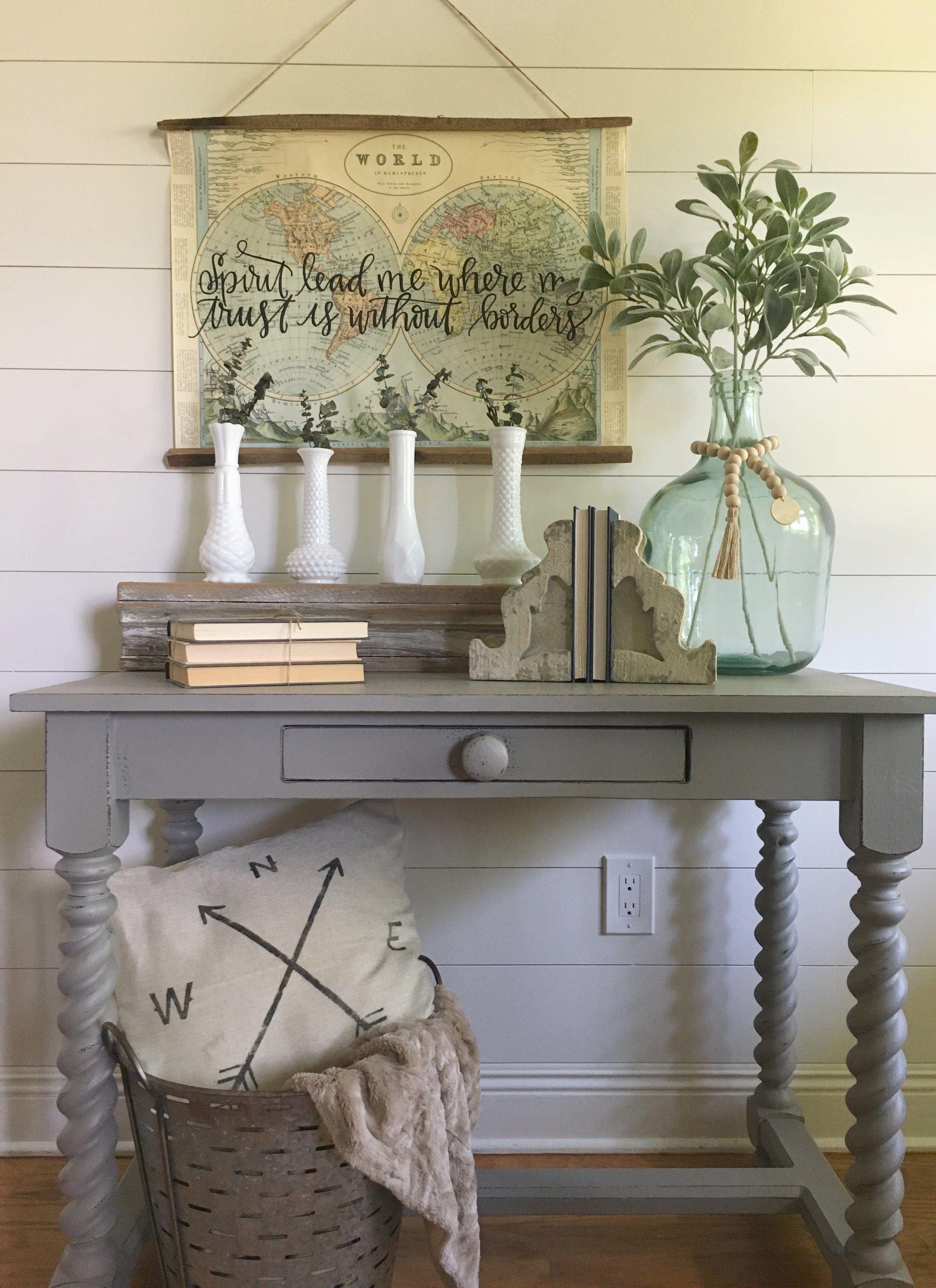 thrift store table flip with chalk paint   modern farmhouse decor