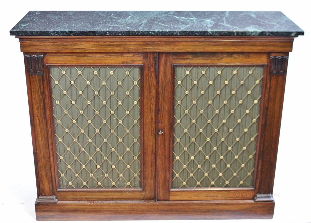 George 1v Rosewood Marble Top 2 Door Side Cabinet With Images Marble Top Side Cabinet Antique Cabinets