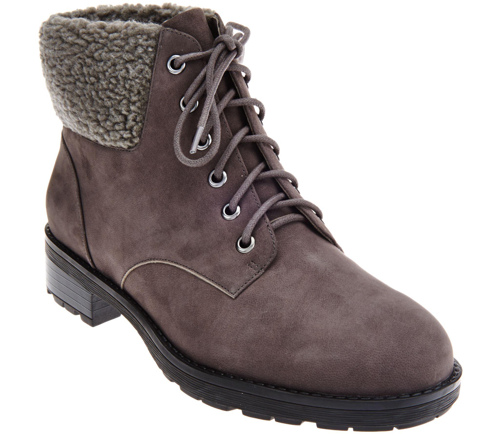 58726aa0fa15 Vionic Orthotic Lace-up Boots w  Faux Fur Trim - Lolland( 180 ...