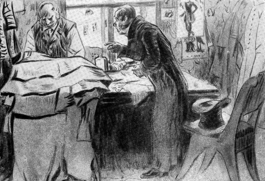 Иллюстрации к шинели гоголя кустодиева