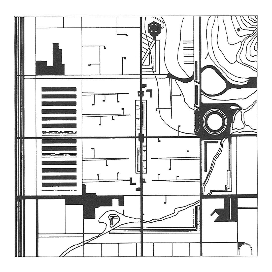 Diagrammatic Plan Of Frank Lloyd Wright S Broadacre City