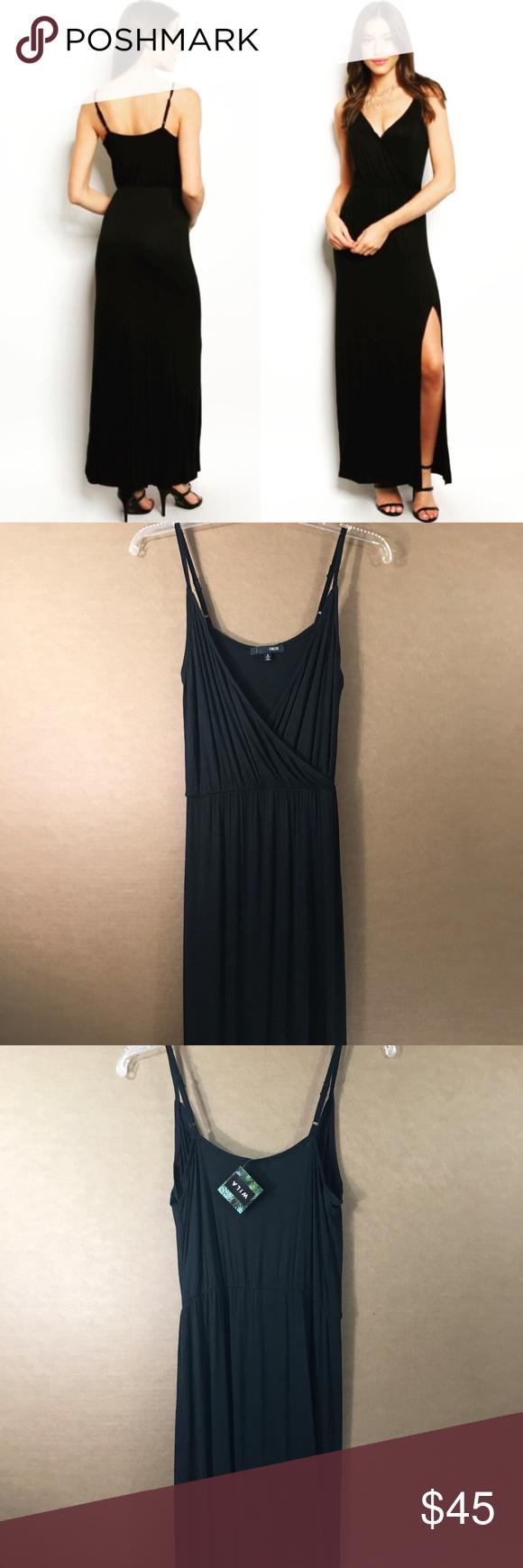 855e70a342 Wila Black Chic Spaghetti Strap Maxi Dress NWT Style - Maxi Dress with  Adjustable Spaghetti Straps