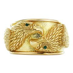 DAVID WEBB Gold Eagle Cuff