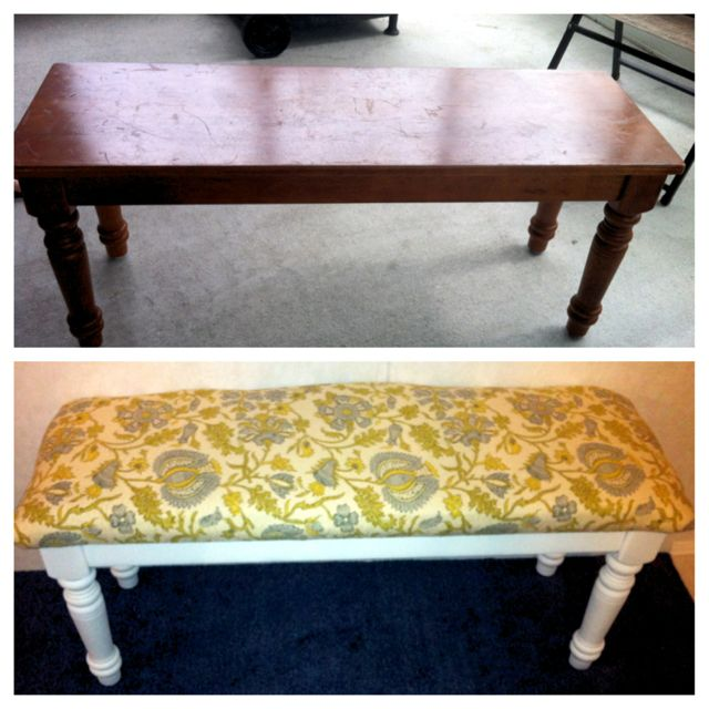 And A Bench To Match Used An Old Narrow Coffee Table 20