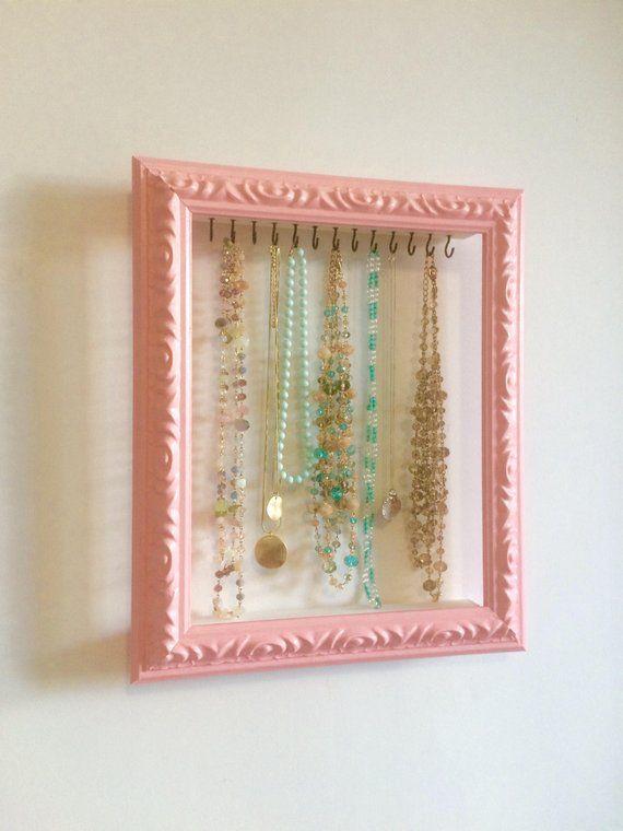 Photo of Shabby Chic Jewelry Organizer, Jewelry Storage, Necklace Hanger, Jewelry …