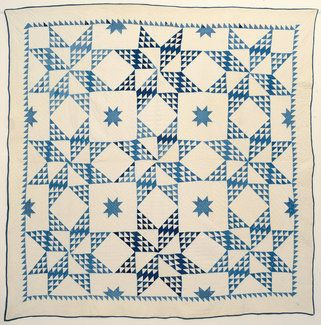 Touching Stars Quilt: Circa 1880; Pennsylvania