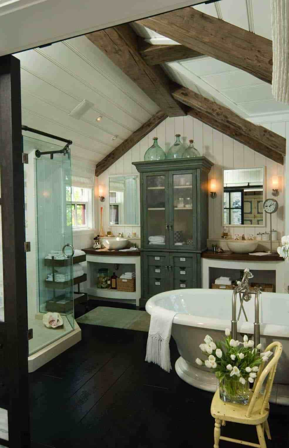 20 Best Farmhouse Style Bathroom Design Ideas - PinZones ...