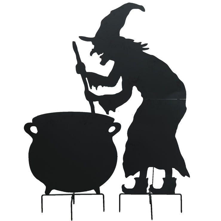 Witch With Cauldron- 2-Piece- 60-in