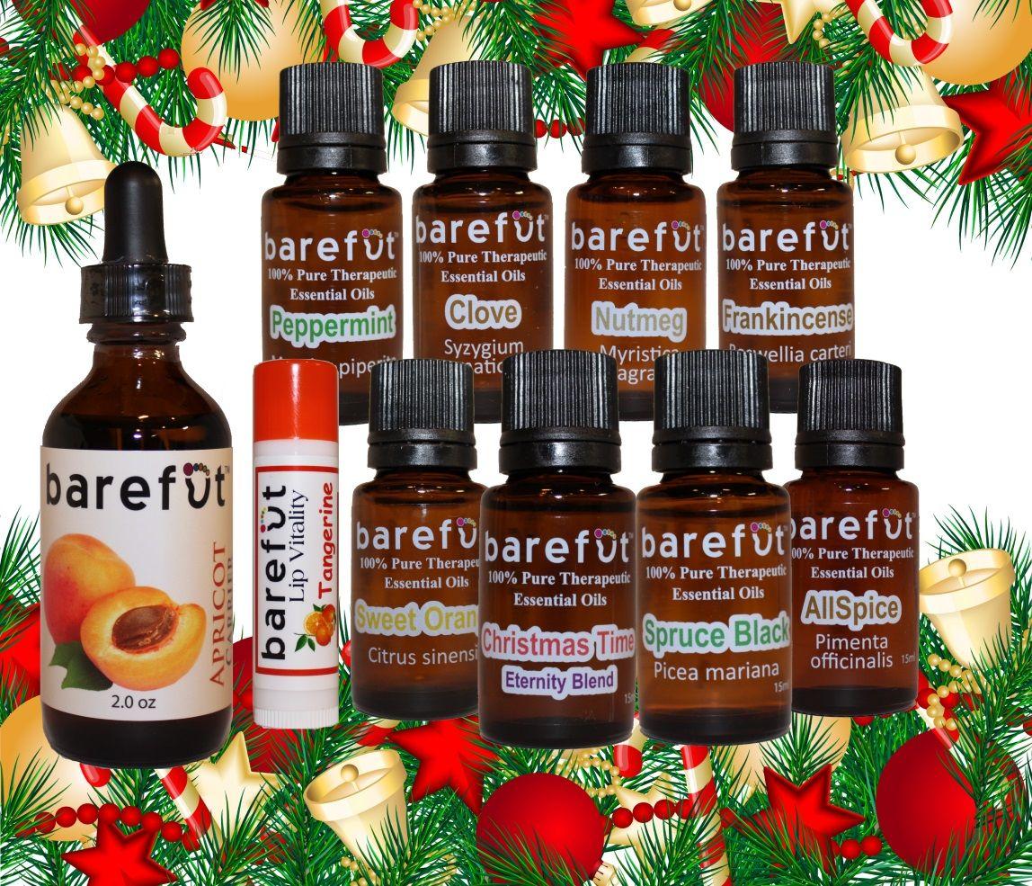 Christmas package 3 essential oils christmas packaging