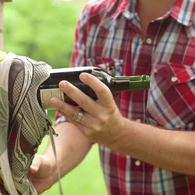 Open a Wine Bottle With a Shoe drinking shots and beer utensils