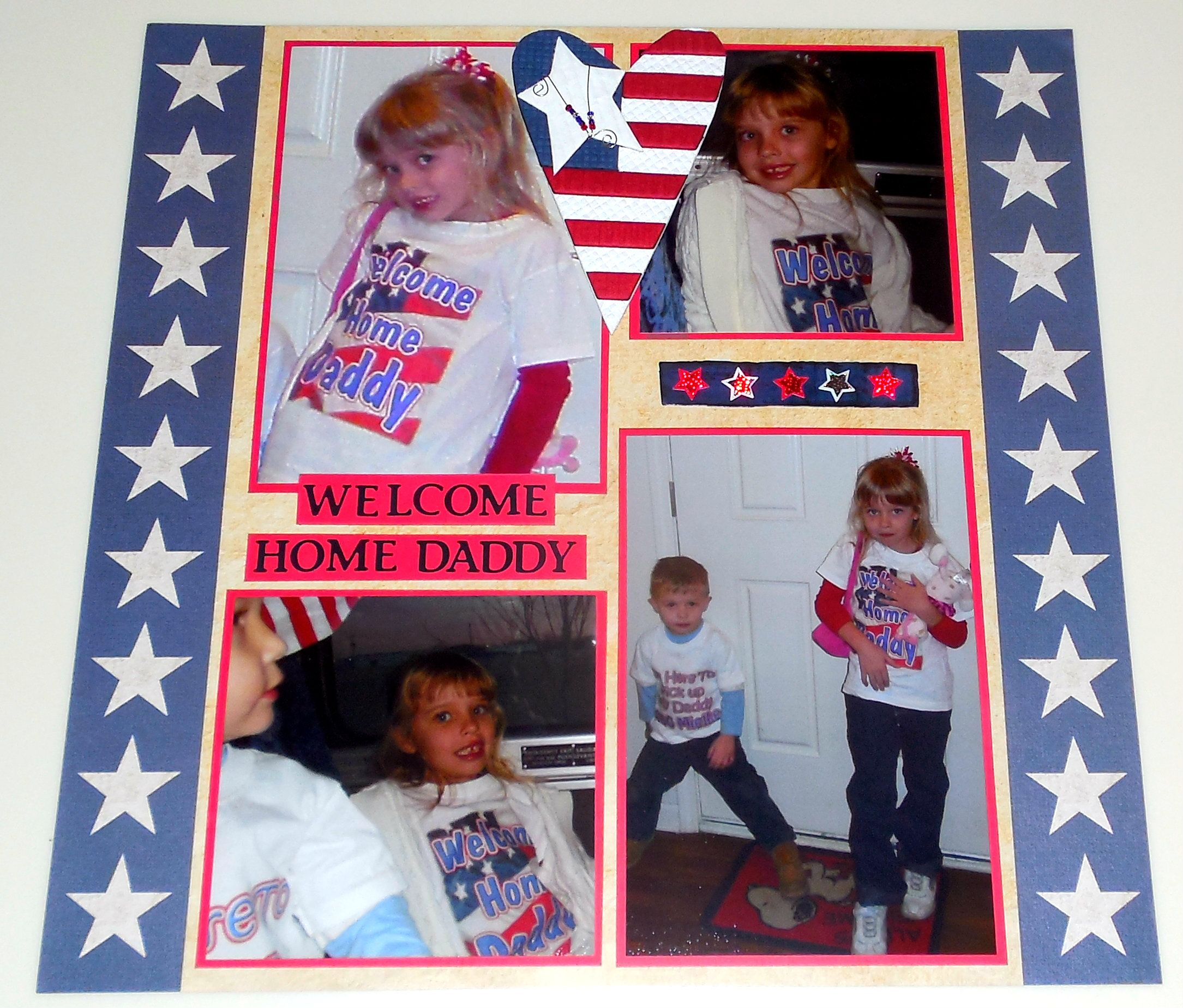 Welcoming Daddy back from a year long deployment - Scrapbook.com