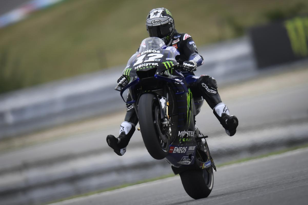 Maverick Vinales Monster Energy Yamaha Motogp Monster Energy Grand Prix Ceske Republiky In 2020 Motogp Yamaha Motogp Monster Energy