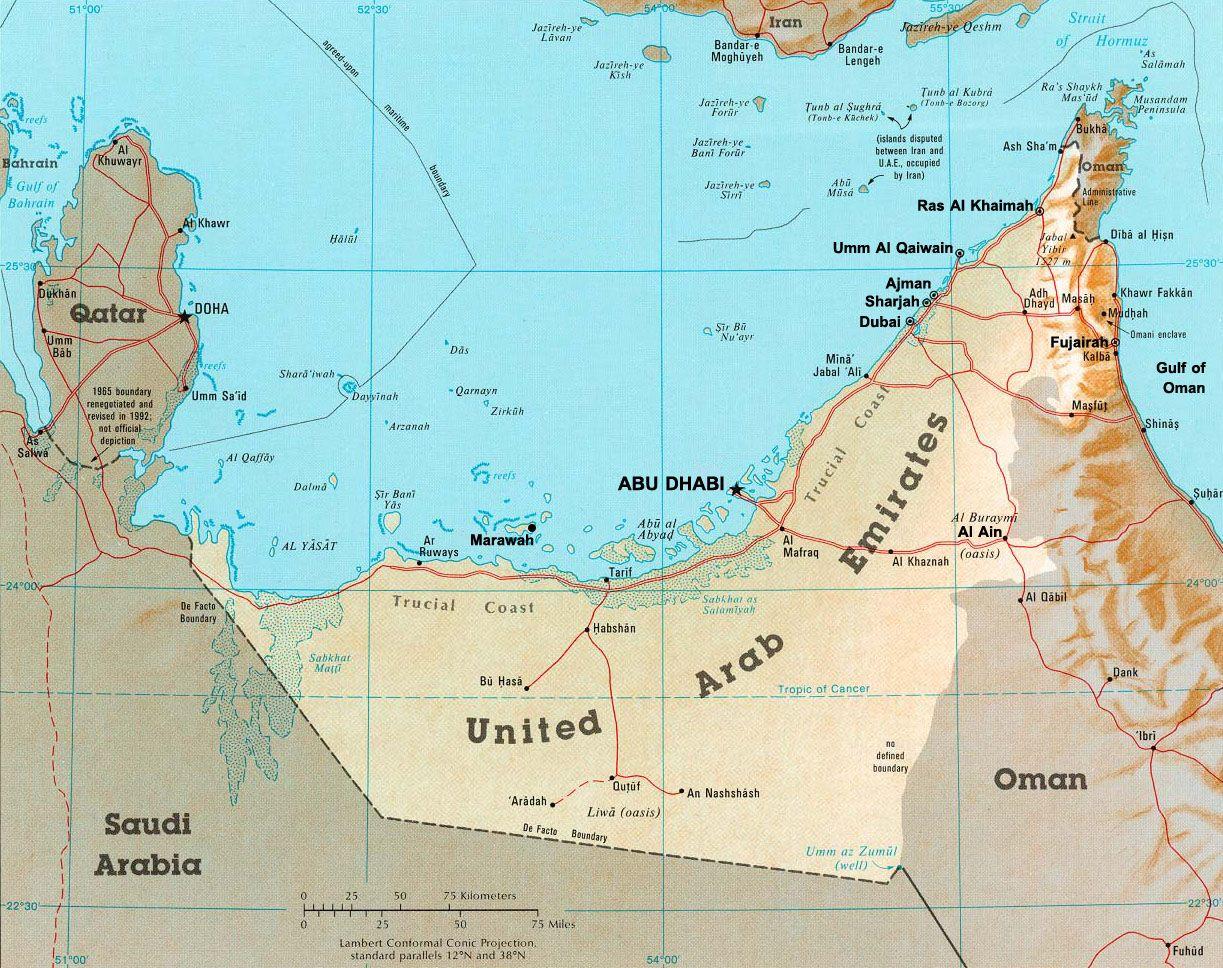 uaemapjpg 1223968 Arabian Peninsula Pinterest Uae