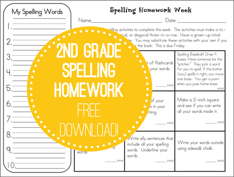 Not sure what to do for spelling homework? We've got you covered. Free tic tac toe spelling practice homework. 6 different sheets to rotate. // Second Story Window