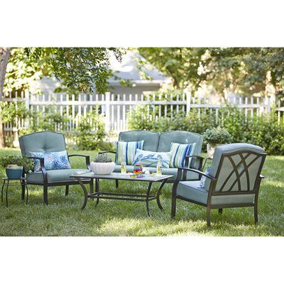 Garden Treasures Cascade Creek 4 Piece Conversation Set Cascade Creek  4 Piece Conversation SetSet