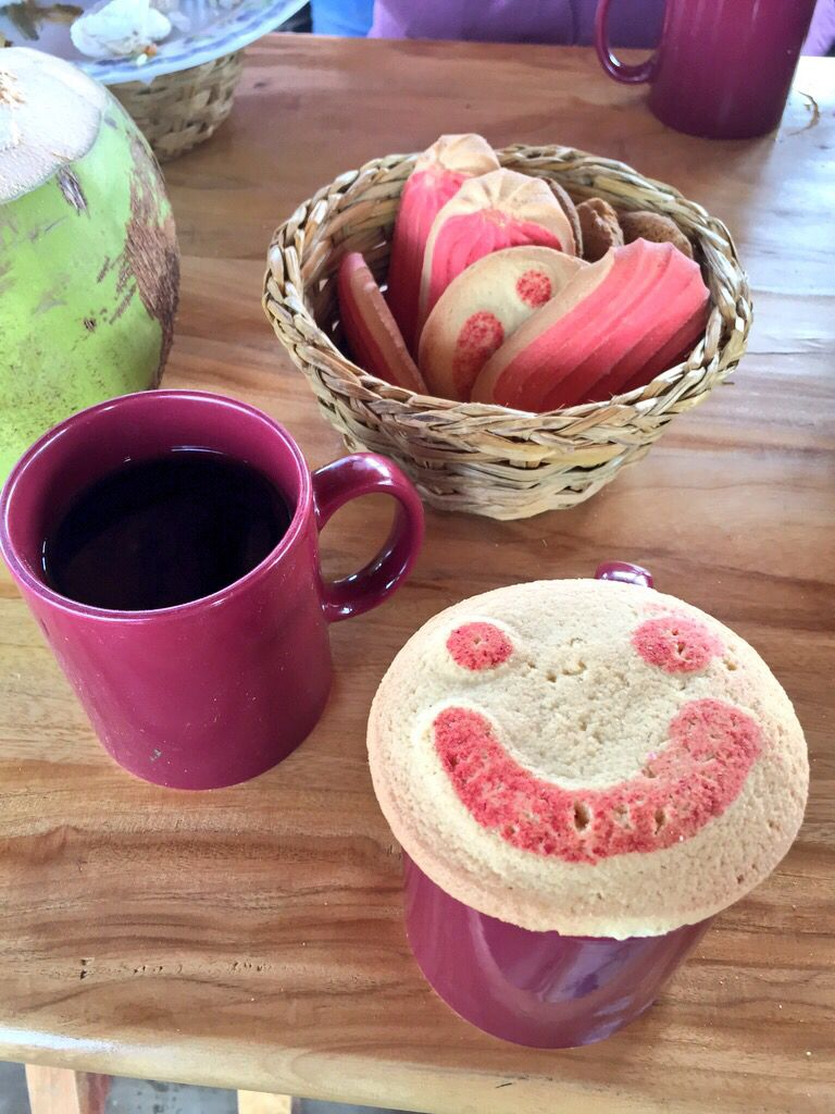 Taza De Cafe Con Pan Dulce Para Una Feliz Tarde Isla La Pirraya