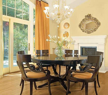 Designer Tip: Pair lighter colors on walls and trim with dark ...