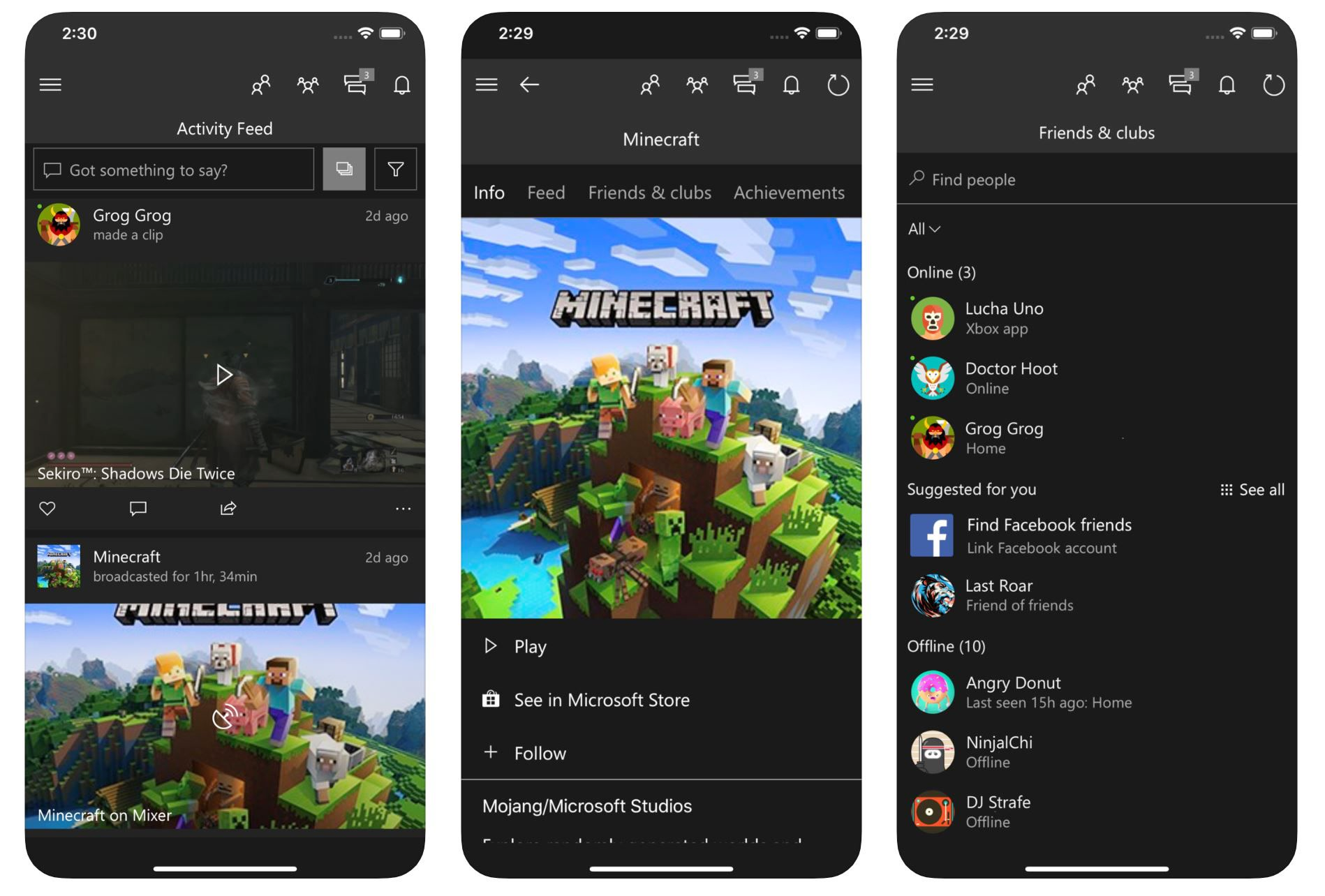 Xbox App for mobile devices you update with voice chat and