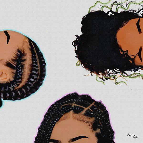 Hair Black girl magic art, Black girl art, Black love art