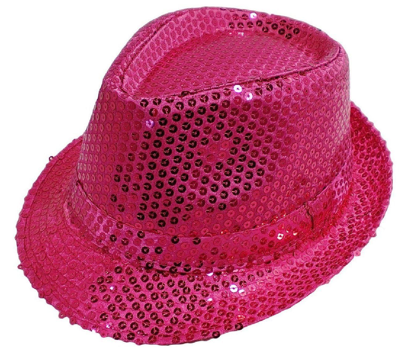 LAfashionist Sequin SILVER Party Fedora Hat