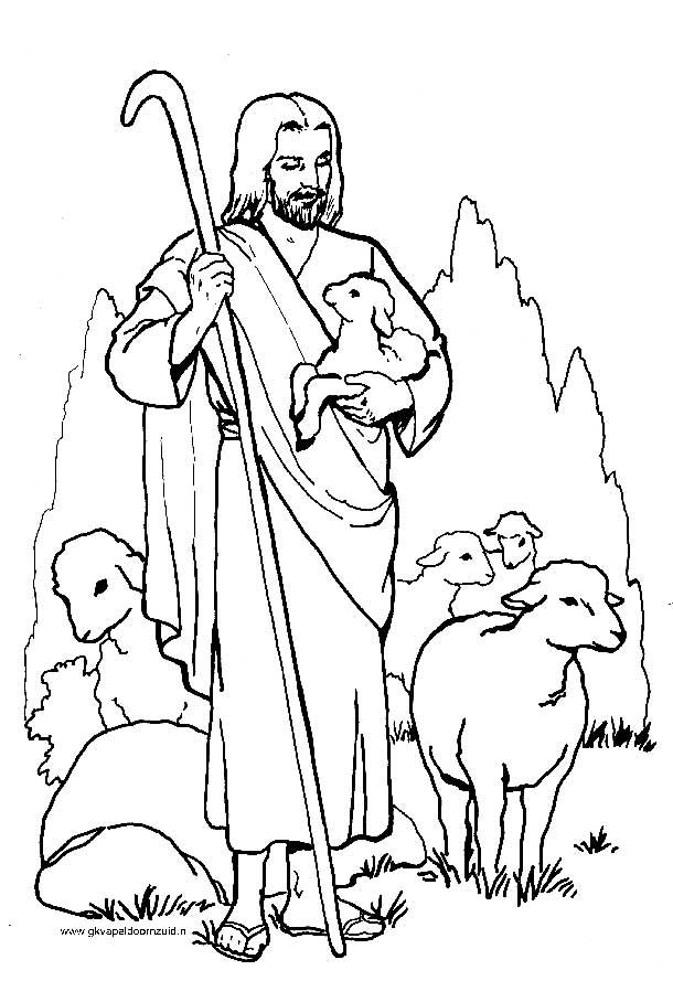 Parel In Gods Hand Kleurplaat De Goede Herder Gkv Apeldoorn Zuid Bijbel Kleurplaten