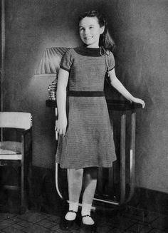 1930s Teenage Girl Google Search Crochet Dress Girl