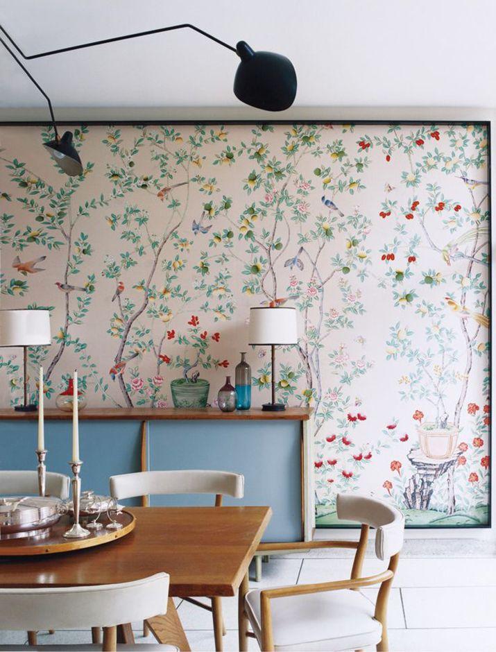 Vogeltapete Im Shabby Vintage Look Wandgestaltung Ideen Papel
