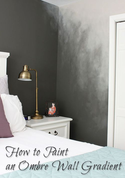 how to paint an ombr wall technique pretty handy girl pinterest w nde farben und. Black Bedroom Furniture Sets. Home Design Ideas