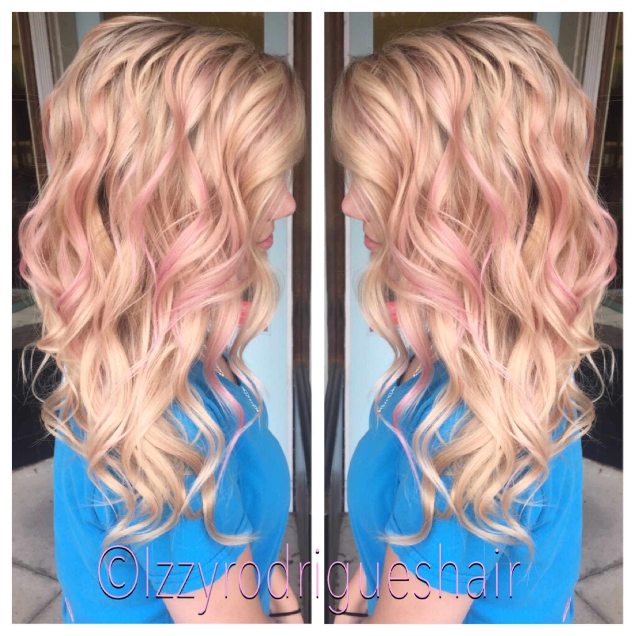 Blonde Hair With Subtle Pink Highlights Aveda Hair Ideas