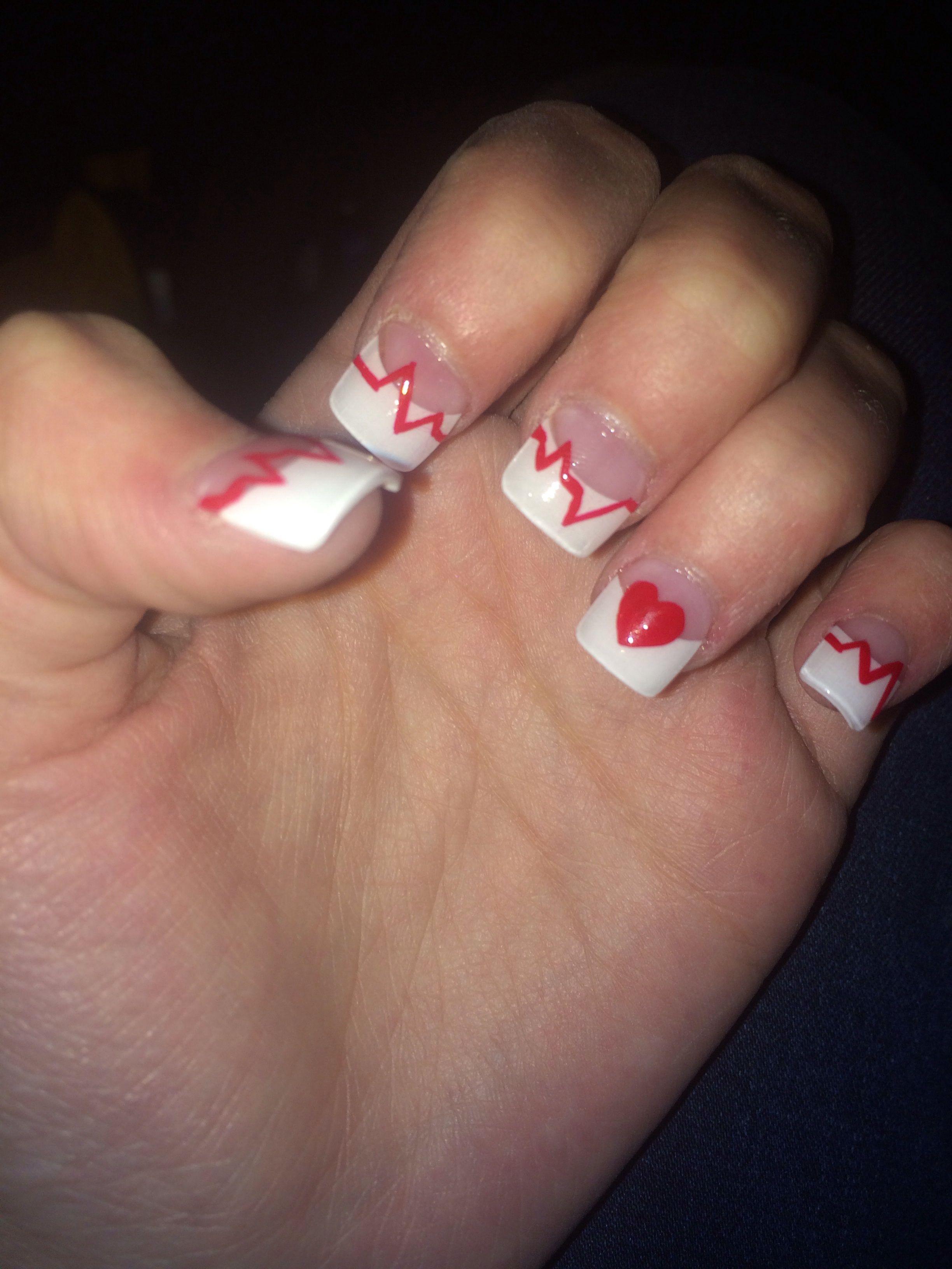 nails for heart month! Proud CHD survivor ❤   Nails   Pinterest