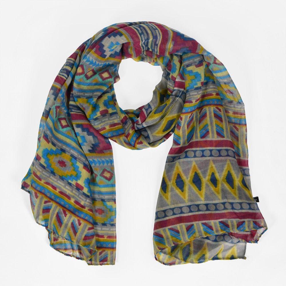 Grand foulard motif navajo   Foulards   écharpes   Foulard, Echarpe ... 68d8d9a5c1c