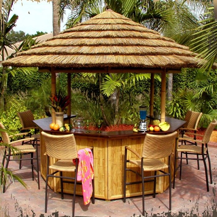 Turn Your Backyard Into A Tropical Resort With A Bamboo Tiki Bar
