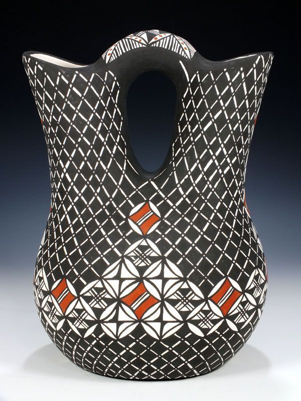 Native American Acoma Wedding Vase As Part Of The Ancient Marriage