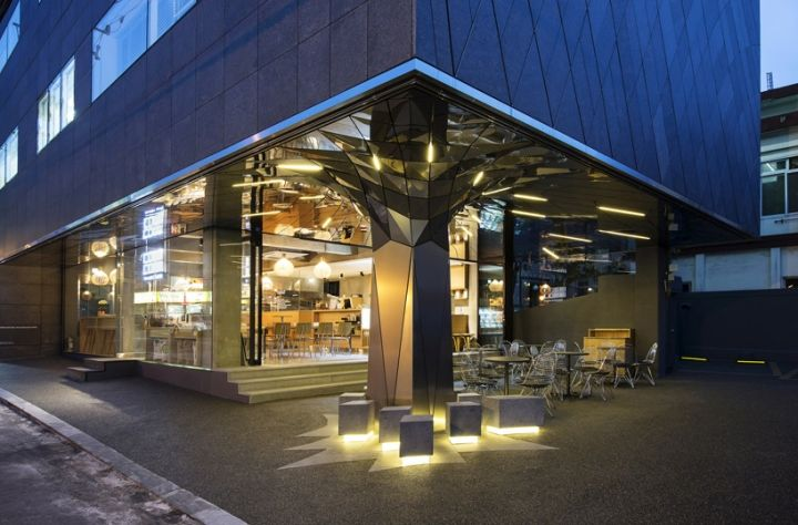 Communique headquarters café by DaeWha Kang Design, Seoul
