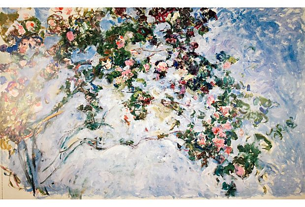 rare posters claude monet les roses process offset lithograph dimensions 35 x 54 5. Black Bedroom Furniture Sets. Home Design Ideas