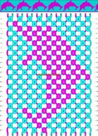 Dolphin friendship bracelet pattern... This would look very cool in KM colors