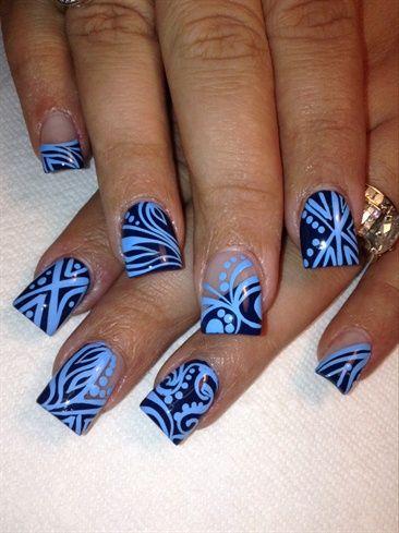 Got The Blues by AlysNails - Nail Art Gallery nailartgallery.nailsmag.com by Nails Magazine www.nailsmag.com #nailart