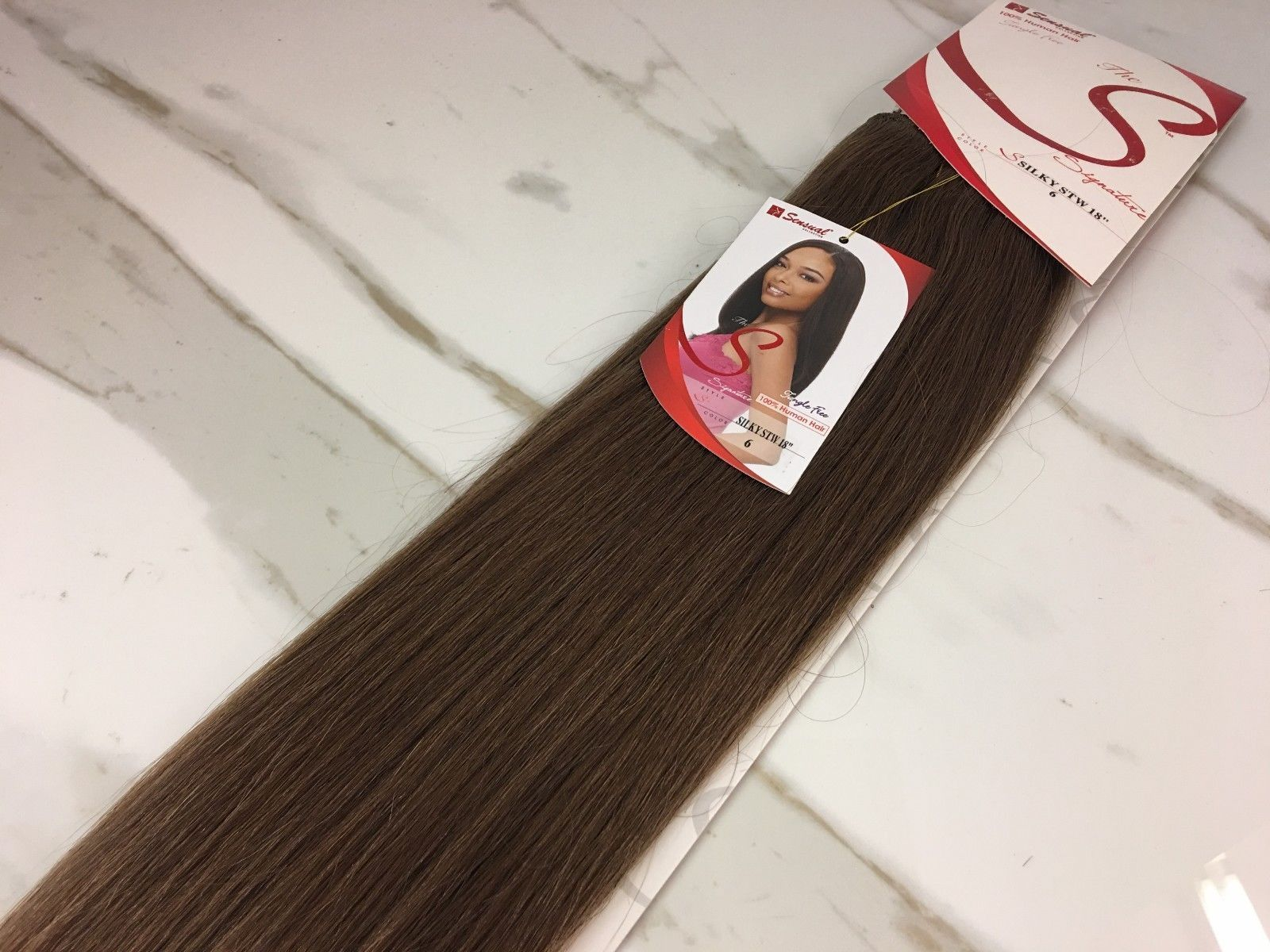 18 Sensual Signature 100 Human Weave Hair Extensions Silky Stw18