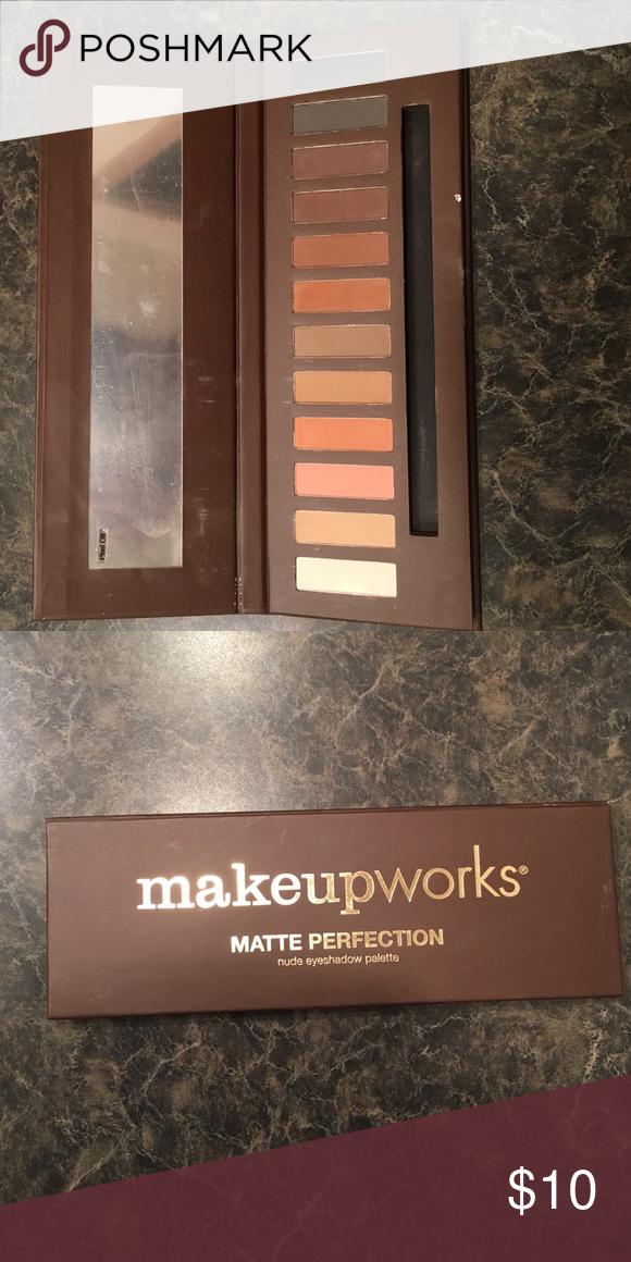 matte eyeshadow palette nude eyeshadow palette. hardly used, beautiful colors! :) makeupworks Makeup Eyeshadow