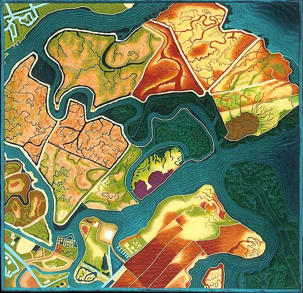 Bet youve never seen San Francisco Bay like this Map quilt