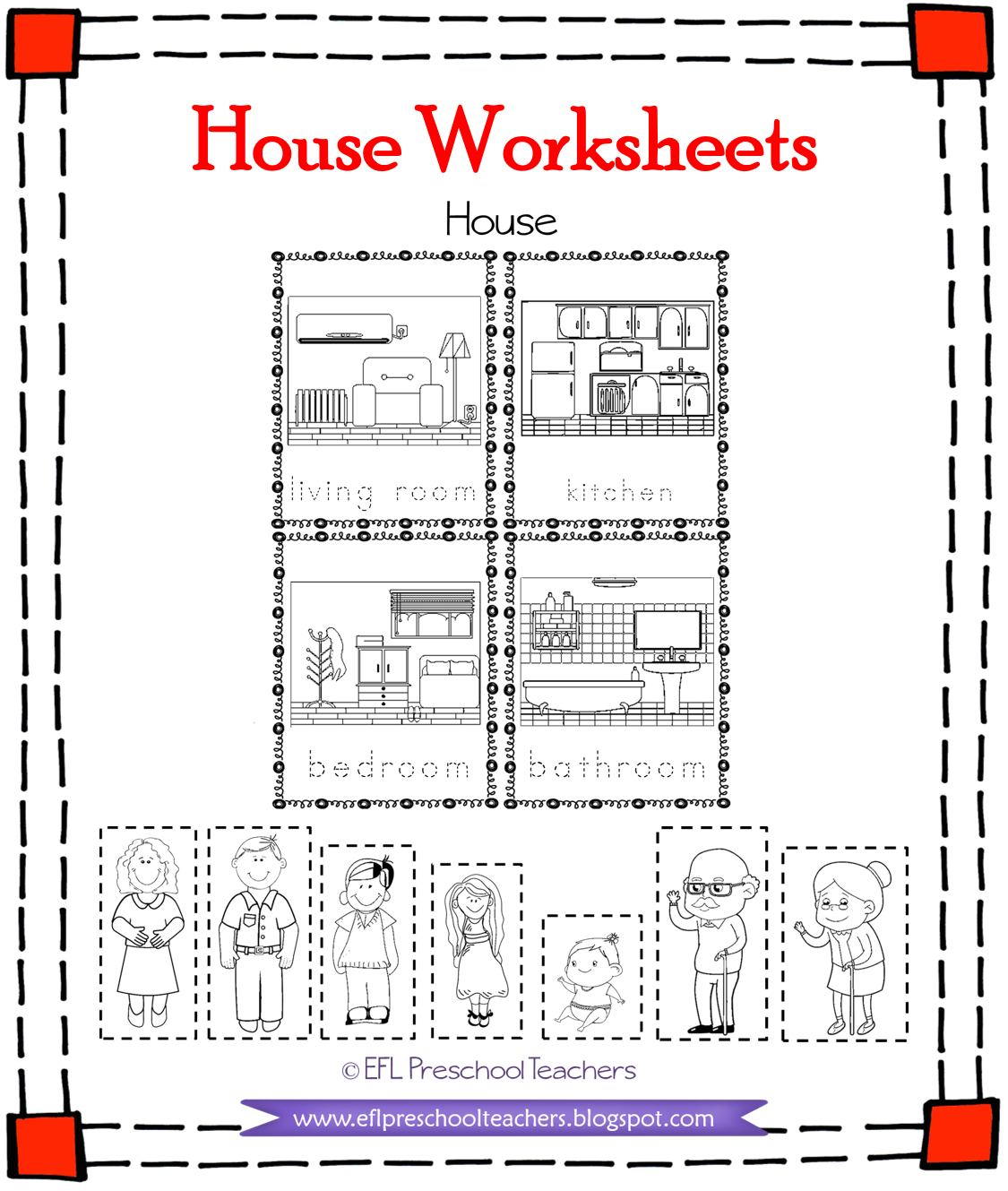 Esl House And Family Printable Worksheets In