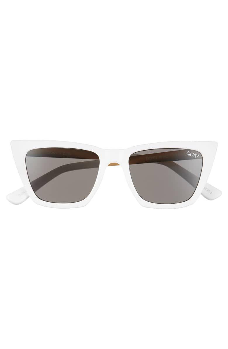 35b39b5d518a3 Quay Australia x Desi Perkins Don t   Me 48mm Cat Eye Sunglasses ...