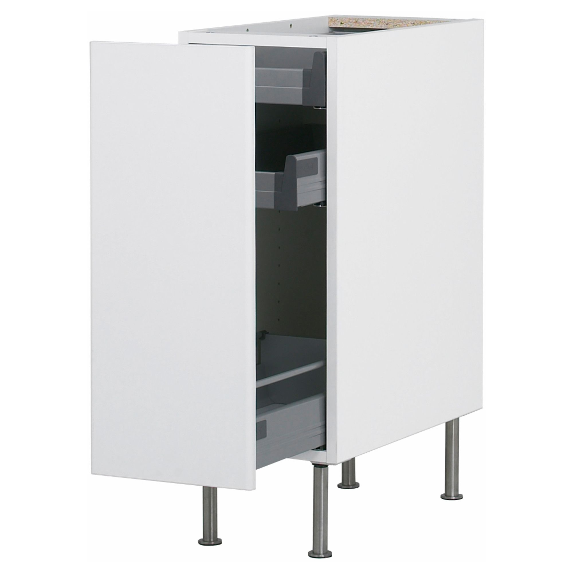AKURUM Base cabinet with pull-out storage - white, Härlig white ...