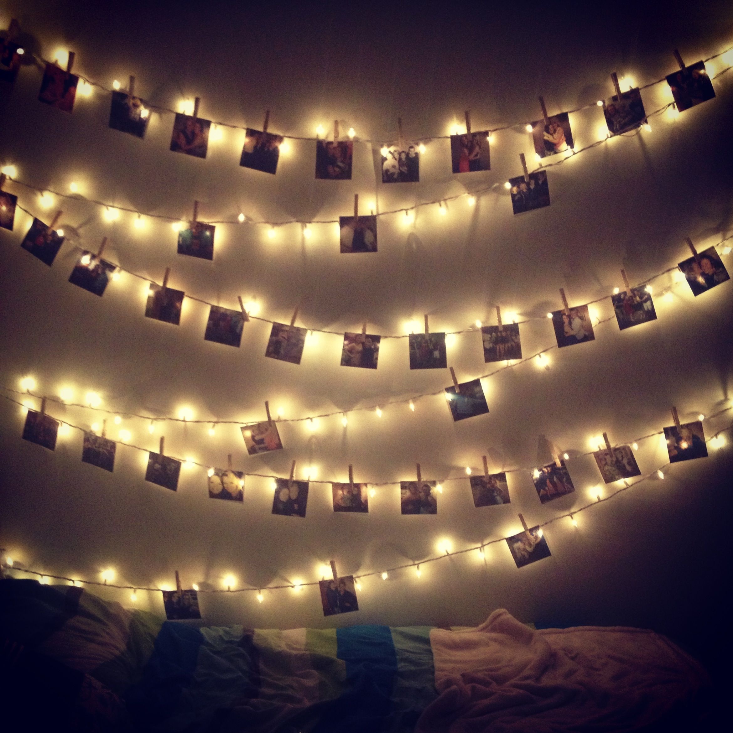 White String Christmas Lights.White Christmas Lights Strung Along The Wall Pictures