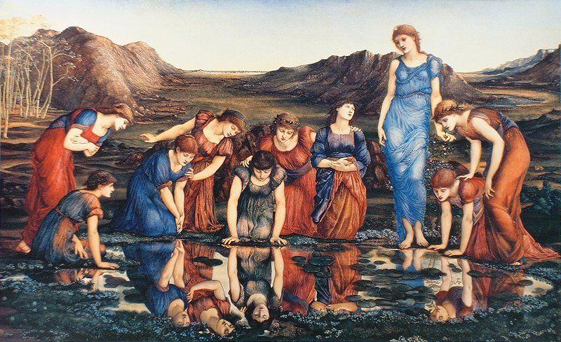 "Edward Coley Burne-Jones ""The Mirror of Venus"""